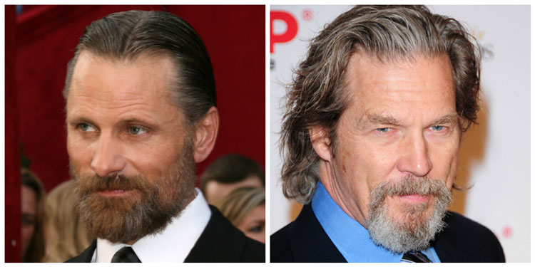 Circle Goatee Beards Jeff Bridges Viggo Mortensen