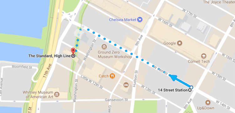 Directions To The Standard High Line Hotel