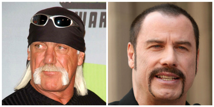 Famous Celebrity Horsehoe Moustache Ideas Hulk Hogan John Travolta