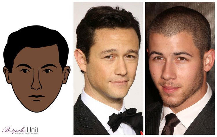 Heart Face Shape Men Celebrities Gordon Levitt Nick Jonas