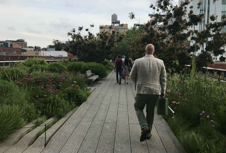 High Line Park In The Meatpacking District NYC