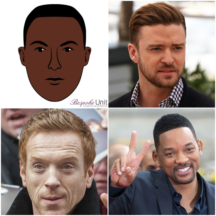 Oval Face Shape Men Celebrities Will Smith Timberlake Damian Lewis
