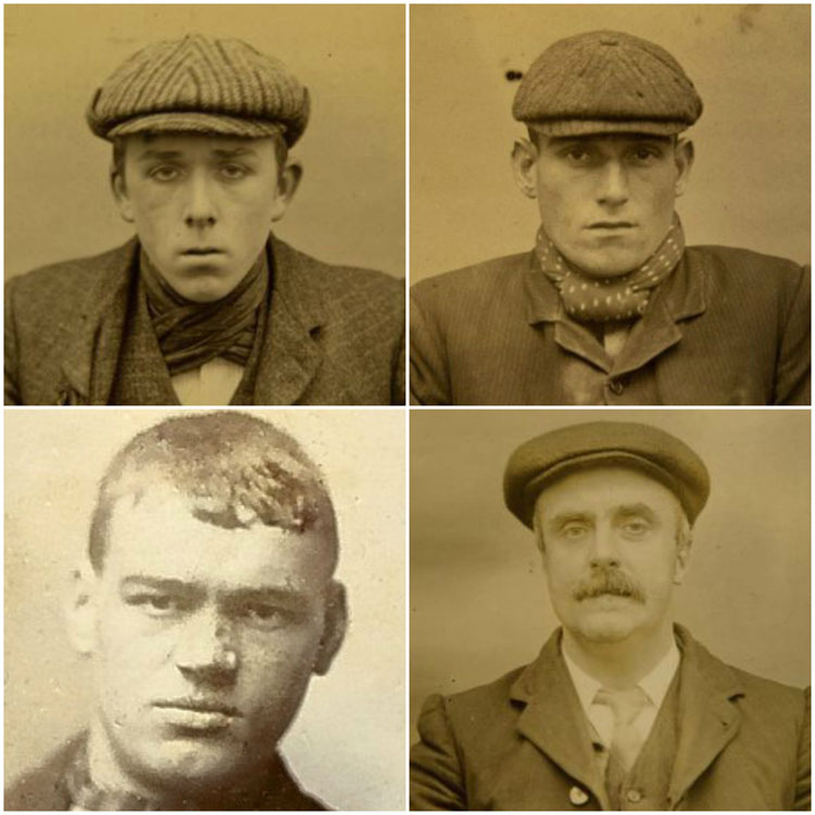 Peaky Blinders Salford Scuttlers Manchester Mug Shots