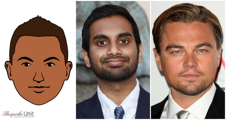 Round Face Shape Men Celebrities Aziz Ansari DiCaprio