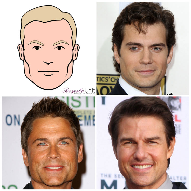 Square Face Shape Men Celebrities Cavill Lowe Cruise