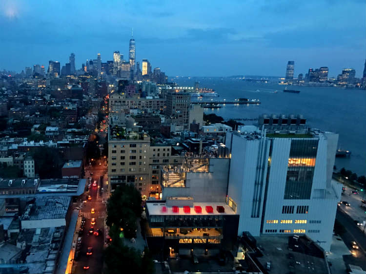 View of Lower Manhattan Skyline from Standard Rooftop Bar