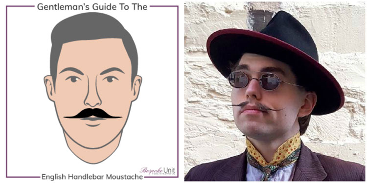What Is An English Handlebar Family Moustache Featuring Blakesby Hats