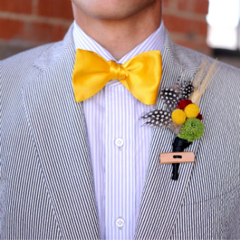 Seersucker-Suit-With-Yellow-Bow-Tie