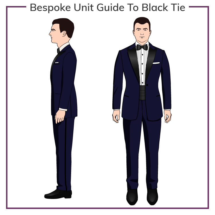 dd5f77f659021 1 Guide To Men's Black Tie Dress Code & The Tuxedo | Bespoke Unit
