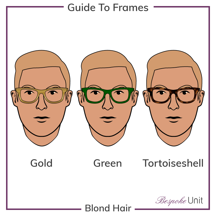 Blond Hair With Gold Green And Tortoiseshell Glasses