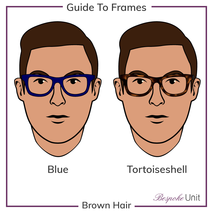 Brown Hair With Tortoiseshell And Blue Glasses