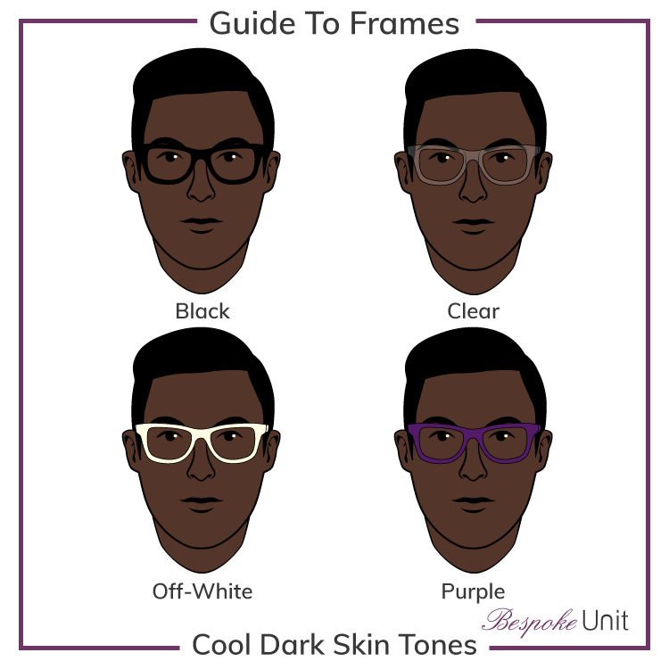 Dark Cool With Black Clear Off-White And Purple Frames