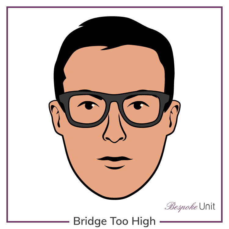 Glasses With Bridge Too High