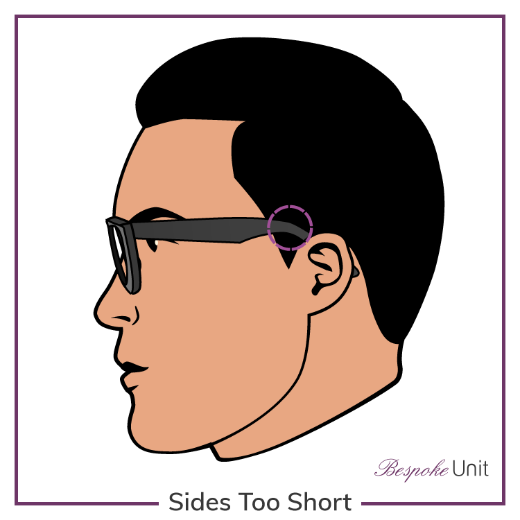 Glasses With Sides Too Short