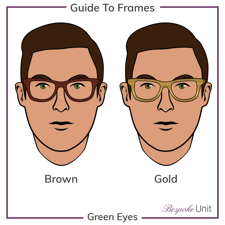 Green Eyes With Brown And Gold Frames