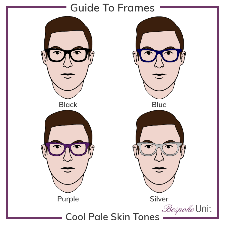 Pale Cool With Black Blue Purple And Silver Frames
