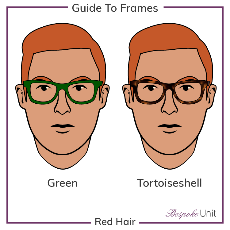 Red Hair With Green And Tortoiseshell Frames