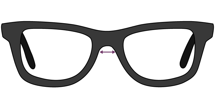 how to measure bridge width for glasses