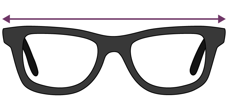 what is glasses frame width