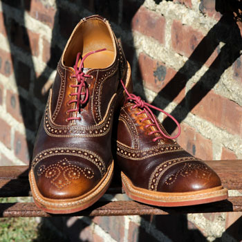 Allen Edmonds Strandmok Brogues On Fire Escape