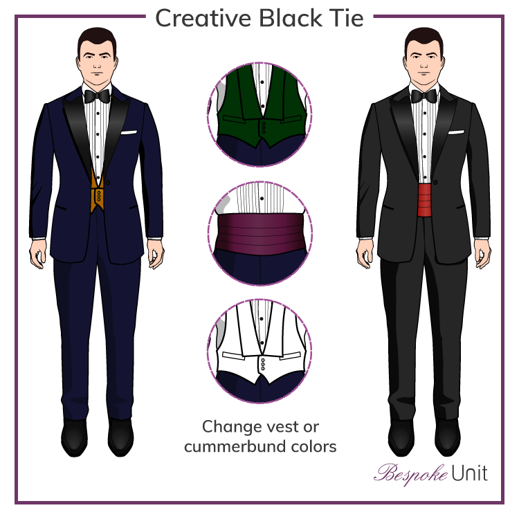 Creative Black Tie Ensemble