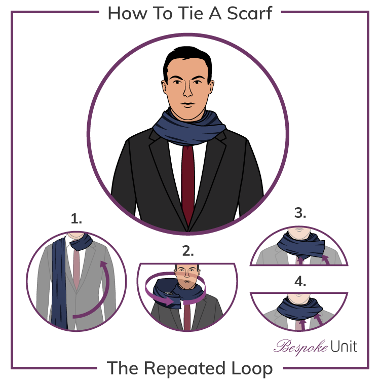 Repeated Loop Scarf Knot