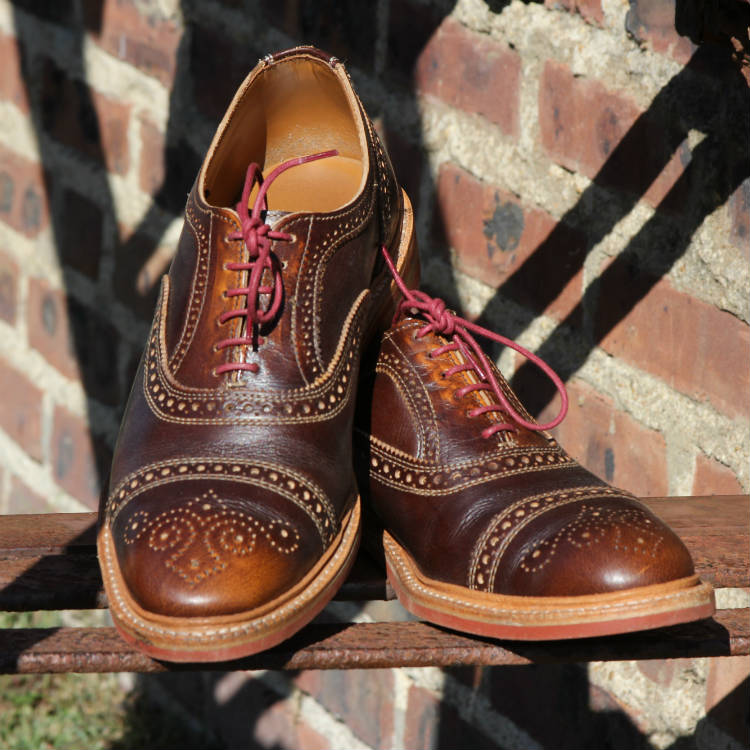 brown allen edmonds brogues