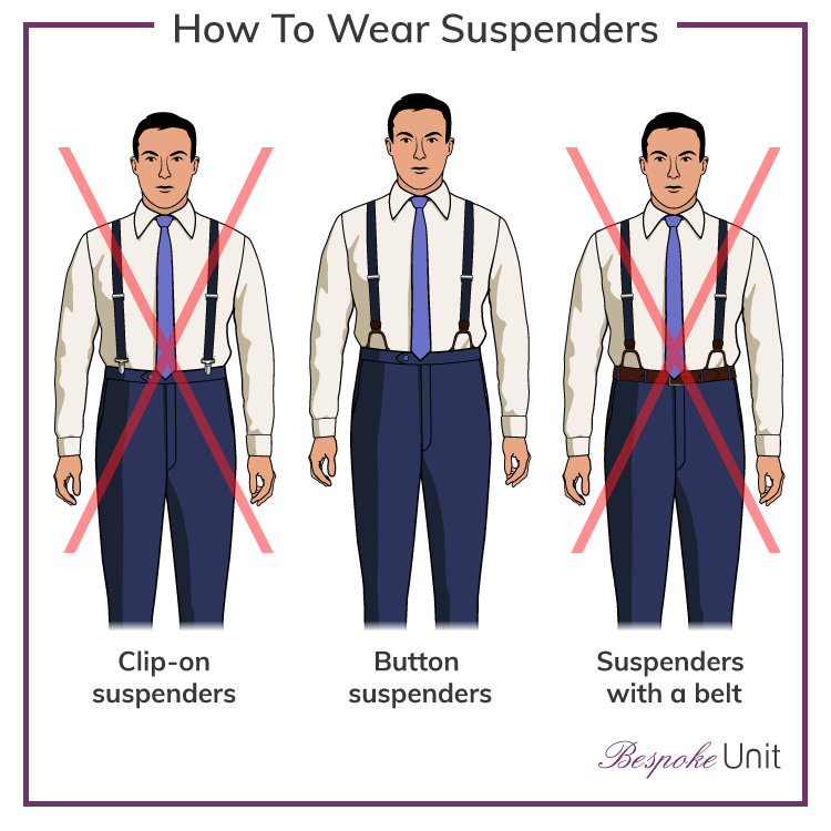 Standard Clip Suspenders 15 Different Colors