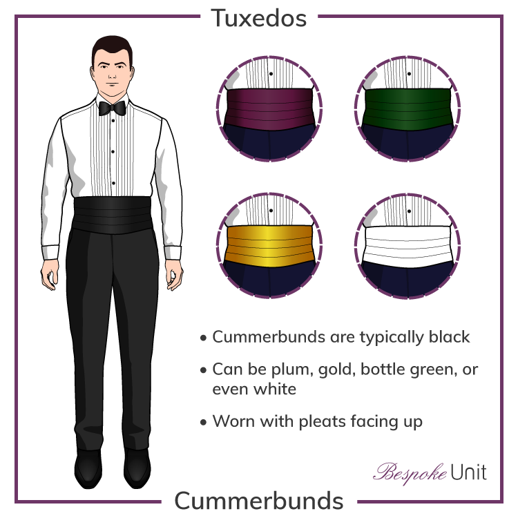 Different Color Cummerbunds