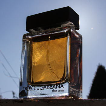 Dolce & Gabbana The One Bottle In Front Of Winter Sun