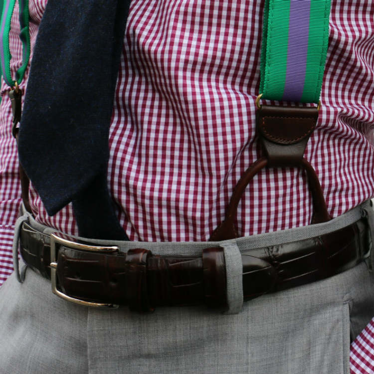 braces with a belt