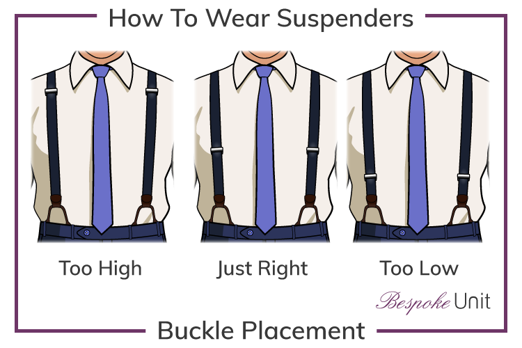 correct suspenders buckle-placement