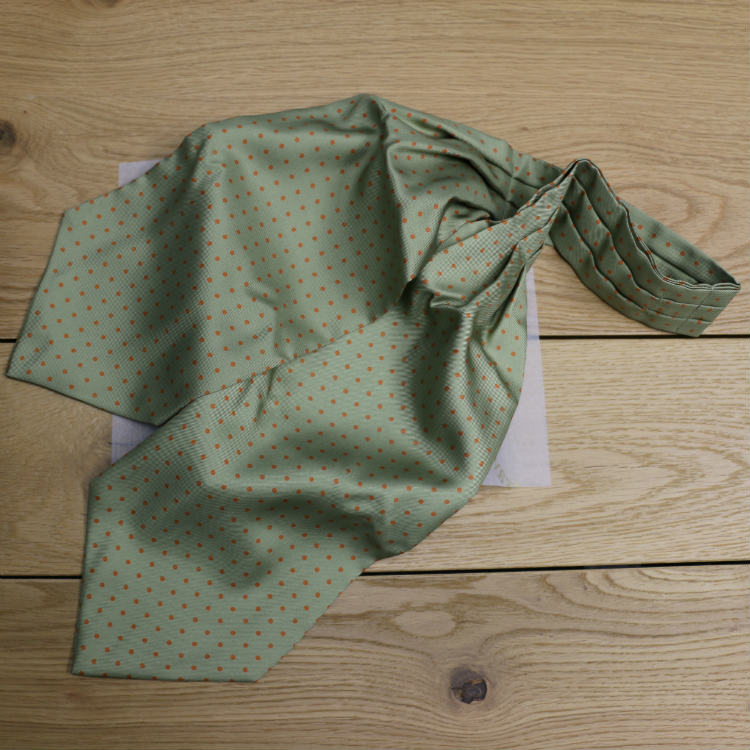 dotted ascot on wood table