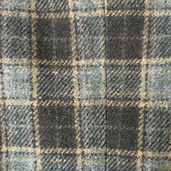 grey and brown plaid fabric