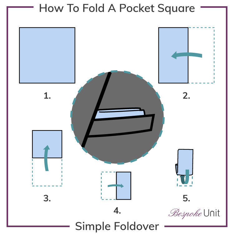how-to-fold-a-pocket square simple foldover