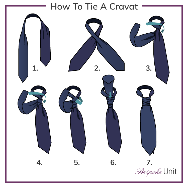 how to tie a cravat