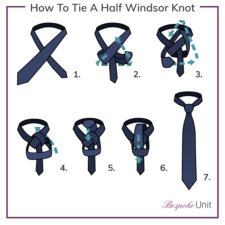 How to tie a tie 1 guide with step by step instructions for knot how to tie a half windsor knot ccuart Images