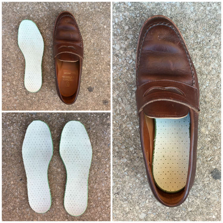 insoles in and out of a shoe