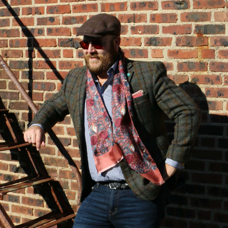How to wear scarves men