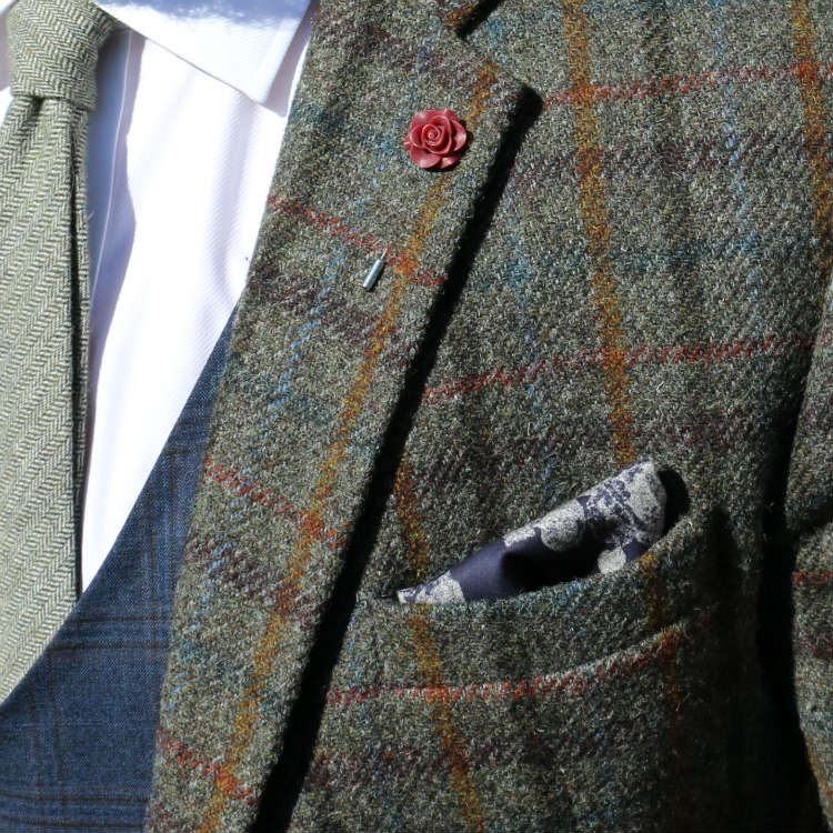 pocket square and sport coat