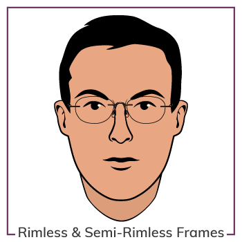 Oval Face Wearing Rimless Glasses Frames