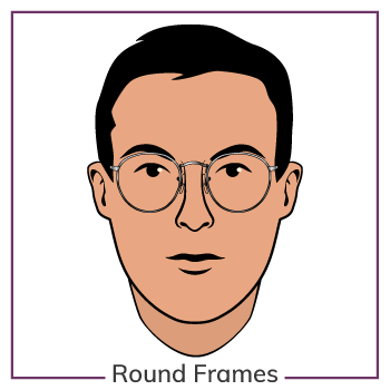 Oval Face Wearing Round Glasses Frames