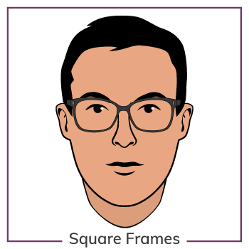 Oval Face Wearing Square Glasses Frames
