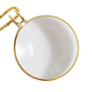 super z outlet gold metal magnifying monocle