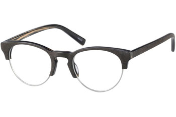 zenni optical wood texture browline glasses