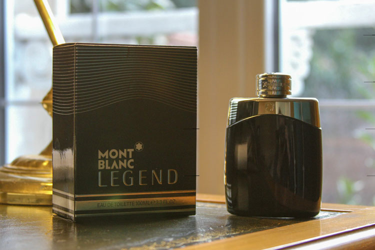 Mont Blanc Legend Bottle Leather Desk