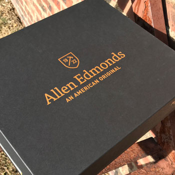 Allen Edmonds Dalton Wingtip Brogue Boots Box