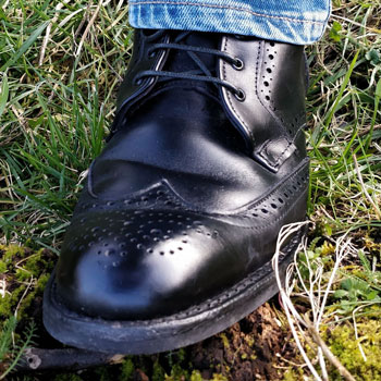 Allen Edmonds Dalton Wingtip Brogue Boots Grass