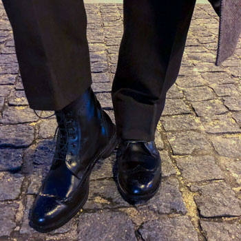Allen Edmonds Dalton Wingtip Brogue Boots Paved Street