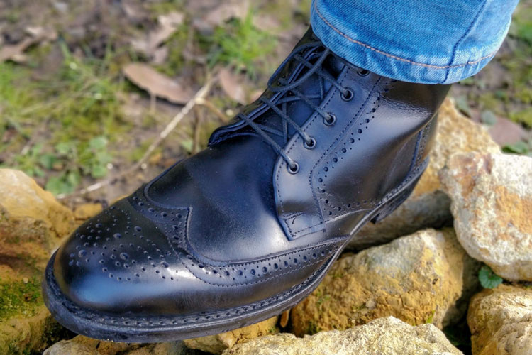 Allen Edmonds Dalton Wingtip Brogue Boots Rocks